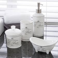 Le Bain White Bathroom Accessories   Pillow Talk