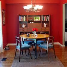 The Modern Home Red Wall Painting Ideas - Dining room red paint ideas