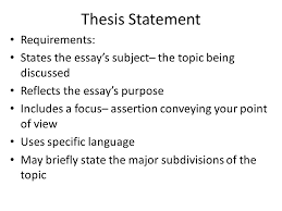 essay writing ppt  4 thesis statement requirements