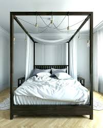 Marvellous Wood Canopy Bed Frame Full Home Improvement Contractors ...