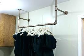 wall mounted closet rod wardrobe ideal mount clothes clothing coat rack with