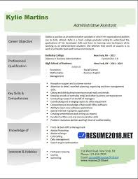 Administrative Assistant Resume Examples 2018 Resume 2018