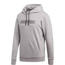 Adidas Sport Performance Mens Logo Hoodie Medium Grey