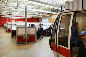 collaborative office space. open office space and collaborative areas for db schenker ware malcomb denver e