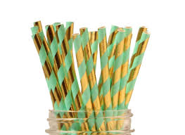 Sweet Pea Parties Striped Paper Straws Mint Colored Paper StrawsllL