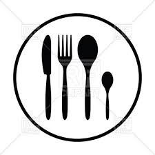 kitchen utensils silhouette vector free. Silhouette Of Silverware Set Icon Vector Image \u2013 Artwork Objects © Angelp #122979 Kitchen Utensils Free