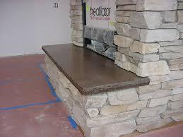 concrete fireplace hearth google search