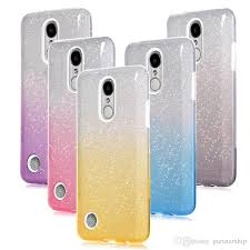 Glitter Gradient TPU Case For LG K20 Plus K10 K8 2017 LV5 Stylo 3 Stylus 2 LS775 Aristo MS210 V3 LV3 Transparent Back Cover Western Cell