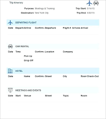 Trip Planner Excel Travel Template Simple Itinerary Experimental