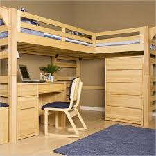 wooden loft bed with desk plans