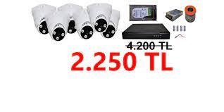 6 Kameralı Ev ve Ofis İç Güvenlik Kamera Sistemi 2.250 TL - Milas Güvenlik  Kamera Sistemleri
