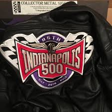 details about indianapolis motor sdway indy 500 leather racing jacket new jh design l
