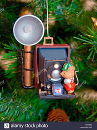 Christbaumschmuck Antike Kamera Blitzlampe Maus Urlaub