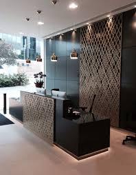 Aberdeen Asset Management reception, London. Laser cut screens, Weave design  by Miles and