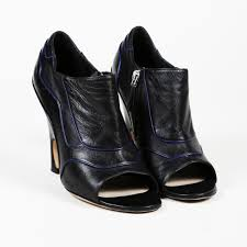 details about dior leather p toe booties sz 38 5