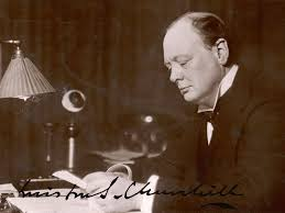 "are we alone in the universe "" winston churchill s lost  british statesman and author winston churchill reads correspondence at his desk in 1933 mary evans picture library alamy"
