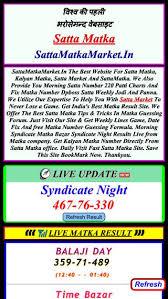 Morning Syndicate Panel Chart Sattamatkamarket In Domainstats Com