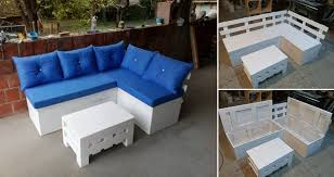 Are you looking for a creative DIY furniture project which will also  improve the look of the space it is in? The pallet sectional sofa with  storage offers ...