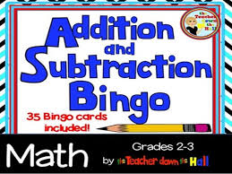 Addition & Subtraction Bingo w/ 35 Bingo Cards Grades 2-3 by jbill46 ...