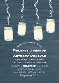 String Of Lights Rustic Wedding Invitation Rustic String Light Mason Jars Wedding Invitation Modern