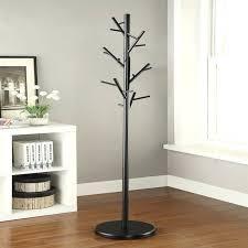 black metal walnut wood hall tree coat hat rack with regard to brilliant property coat rack