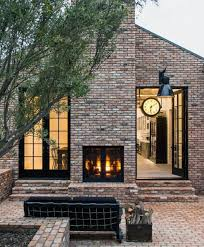 brick fireplace patio design ideas