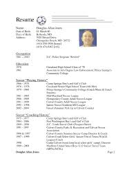 Soccer Player Resume Sample Resume Ideas