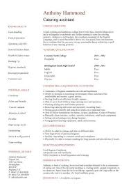 catering manager resume catering manager cv template food preparation job description for 19