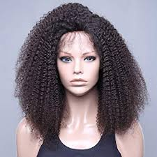 amazon vvhair african american human hair wigs afro curly msian remy lace front wigs with baby hair for black women virgin natural black color14