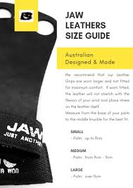Gymnastic Grips Size Chart Jaw Sizing Charts Will Ensure You Buy The Right Size Product