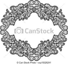 antique frame drawing. Black And White Vintage Frame - Csp15026241 Antique Drawing Q