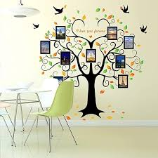 family tree wall decal 9 large photo pictures frames l and stick wall decal