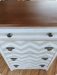 chevron painted furniture. twice lovely chevron dresser iu0027m back painted furniture