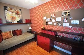 den office ideas. excerpt red accent wall small den office ideas t