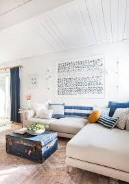 family room sectional sofa blue curtain sconces