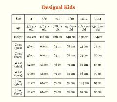 Children S Clothing Size Chart Kids Clothes Sizes Online Charts Collection