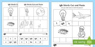 Check out our collection of printable phonics worksheets for kids. Igh Sound Cut And Stick Worksheet Teacher Made