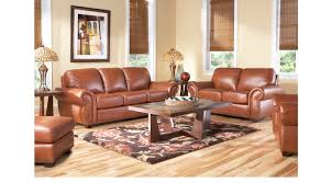 1 688 00 balencia light brown leather 2 pc living room classic traditional