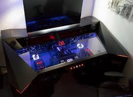 gaming computer desk. Plain Desk 4K Custom PC In A Desk Build On Gaming Computer