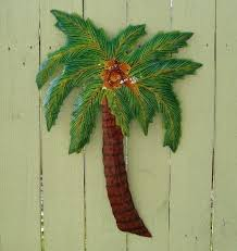 outdoor metal palm tree wall art