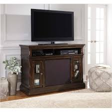 dwyer 57 inch tv stand with electric fireplace w701 28 ashley furniture roddinton dark brown home