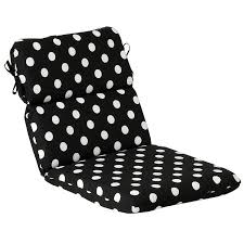 outdoor patio furniture high back chair cushion black white polka dot black and white outdoor furniture