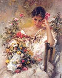 jose royo many oil paintings of beautiful women lovely gentle energy