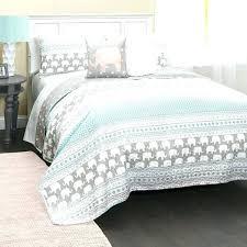 queen quilt sets lush decor elephant stripe 5 piece set oversized quilts comforters