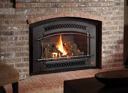 fireplacex 33 dvi large gas insert black painted artisan face