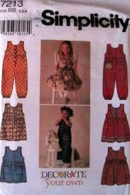 Decorate Your Own Clothes Simplicity 7213 Vintage Little Girls Decorate Your Own Jumpers