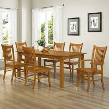 amazon coaster home furnishings 7 piece mission style solid hardwood dining table chairs set table chair sets