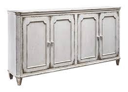 antique white cabinet doors. Fine Cabinet Ashley Furniture Signature Design  Mirimyn 71u0026quot 4Door Accent Cabinet  Vintage To Antique White Doors P