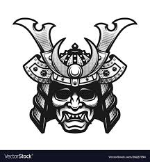 Samurai Warrior Design Samurai Warrior Mask Traditional Armor Of