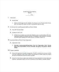 Sample Team Meeting Agenda Template Printable Staff Format ...